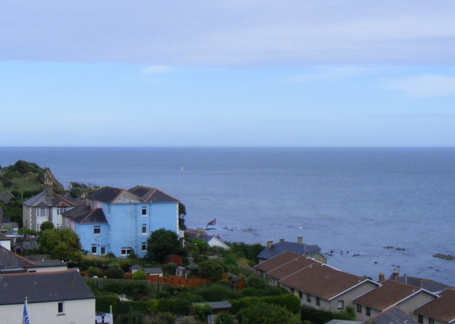 View over the English Channel from South Street, Ventnor