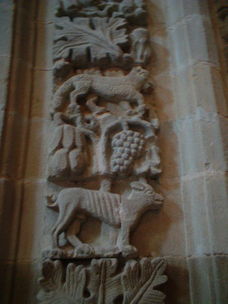 Animal carvings in the cathedral at Astorga