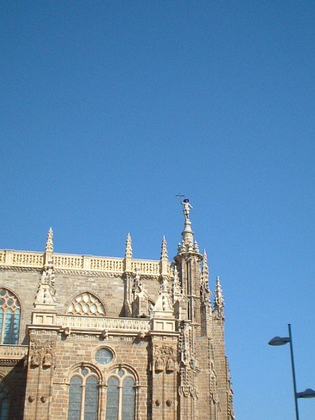A maragato atop Astorga cathedral