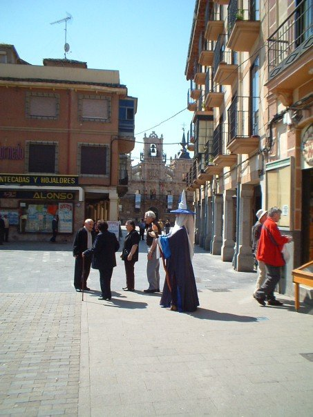 Street performer in Astorga