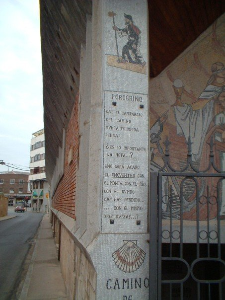 Mosaic on the side of a church on the way out of Astorga