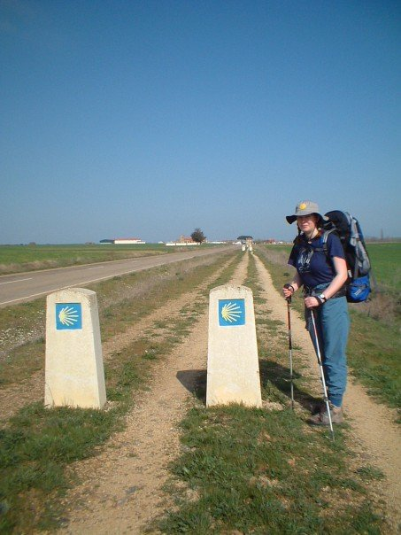 The flat straight path across the meseta