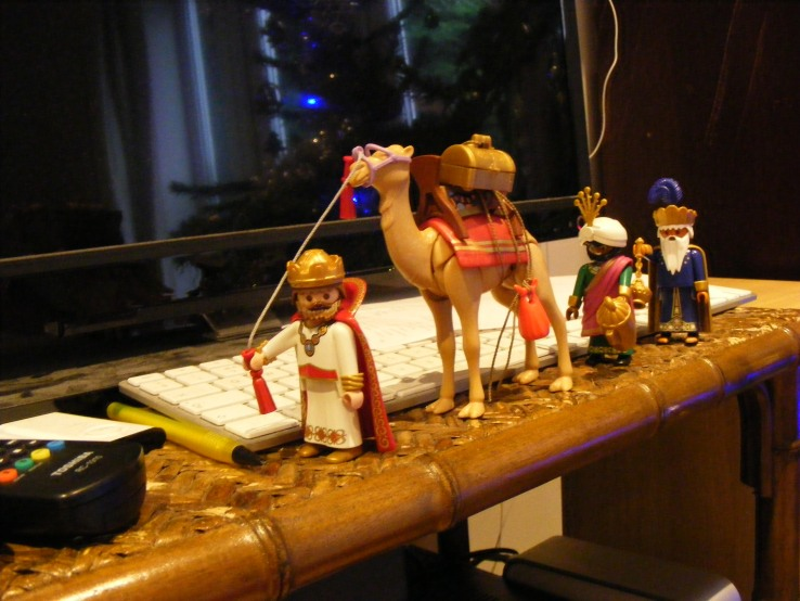 Kings and camel from Playmobil nativity set