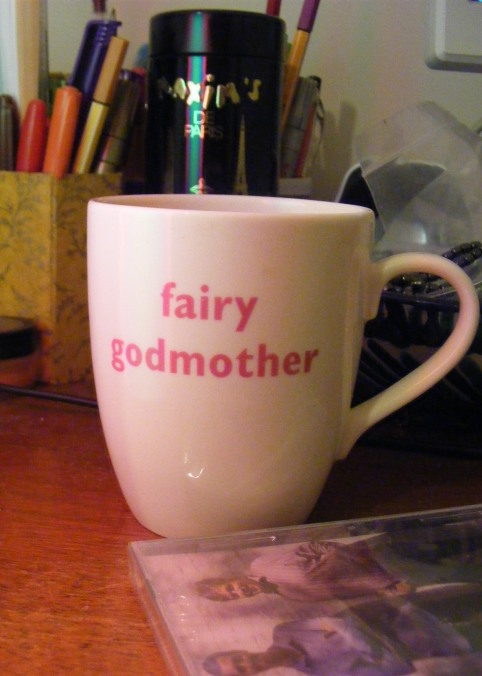 It is entirely appropriate that I bought this mug for myself