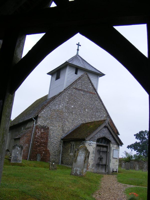 The church at Dummer, as seen from the hospitable lychgate